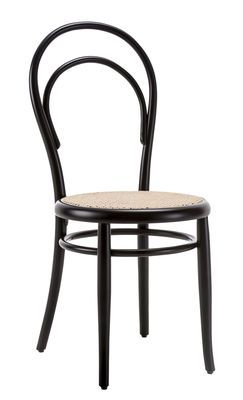 Chaise N 14 Michael Thonet Noir Assise Paille Made In Design In 2020 Stuhle Bistro Stuhle Designklassiker