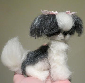 I Will Try This Needle Felting This Year There Are Just Amazing Needlefelted Dogs Puppies From Designs By Karen Shih Tzu Black With Images Shih Tzu Puppy Shih Tzu Dogs