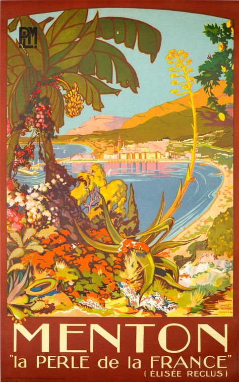 ROCAMADOUR vintage FRENCH travel poster BEAUTIFUL PICTURESQUE 24X36 prized