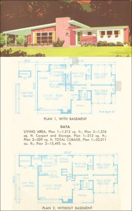 House Plans Contemporary Mid Century 39 New Ideas Mid Century Modern House Plans Mid Century Modern House Vintage House Plans