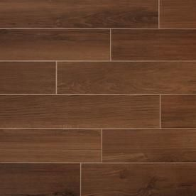 True Porcelain Co Shenandoah Mahogany 6 In X 36 In Porcelain Wood Look Tile Common 6 In X 36 In Actual 5 75 In X 35 75 In At Lowes Com Wood Tile Floors Wood Look Tile Tiles