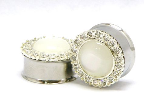 15 wedding plugs and tunnels for stretched ears | Offbeat Bride...   ``Actually, these are pretty. I like the majority of the suggestions.