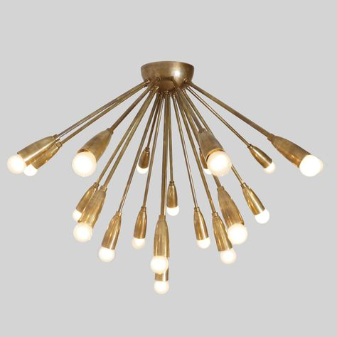 Details about Mid Century Modern Bubbles Chandelier Brass and Glass Ceiling Light Lamp '70s
