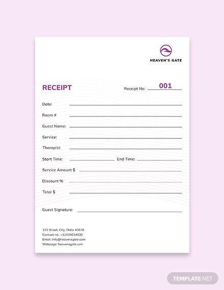 Bill Of Sale Template Free Pdf Word Apple Pages Google Docs Receipt Template Templates Massage Therapy