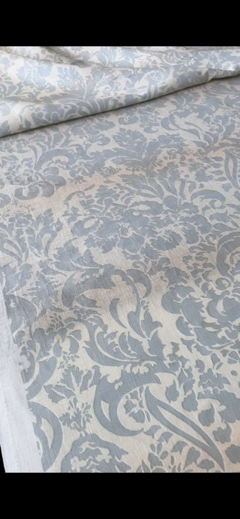 """Smog Verona paint on Ivory + Blush ombre linen Hand Painted By Barbara Beckmann Repeat: 36"""" 12 yards 54"""" wide Bolt #57 Colors are not exact online. List Price was $265 yard"""