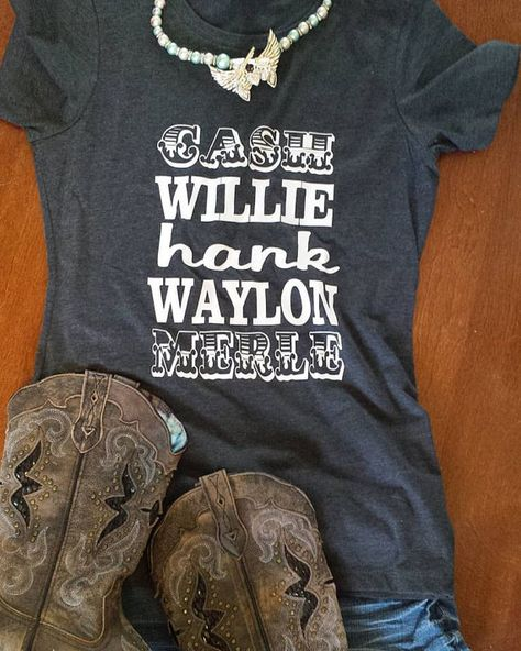 Cash Willie Hank Waylon Merle Womens Country Shirt by GKapparel