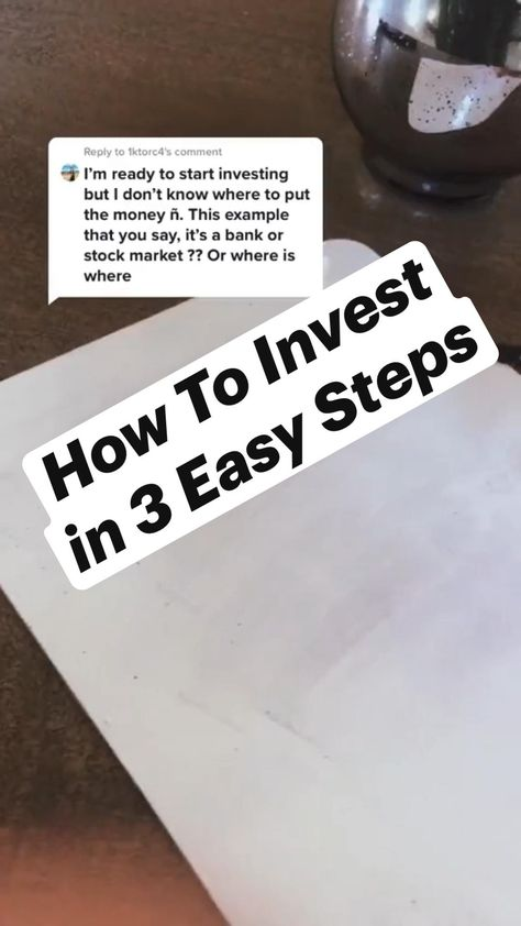 How To Invest in 3 Easy Steps