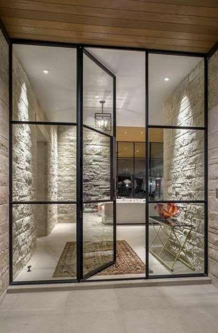 Best Modern Glass Front Door Entrance Interior Design 46 Ideas