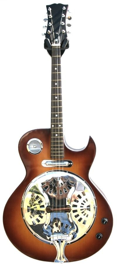 Eight Stringed Electric Acoustic Cutaway Wood Bodied Resonator Tenor Guitar Or Maybe Mandola Https Tenor Guitar Cool Electric Guitars Acoustic Instrument