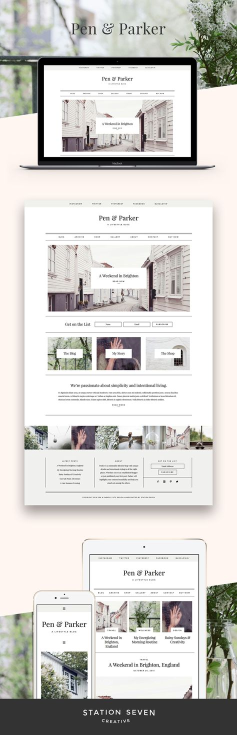 Parker WordPress Theme — Station Seven: Squarespace Templates, WordPress Themes, and Free Resources for Creative Entrepreneurs