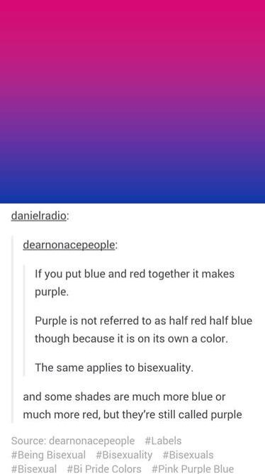 Bisexuals are valid, Biphobia is a thing, let's make an effort to support! ❤️💜💙