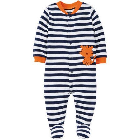 b061536918c4 Baby Boy Carter s Striped Football Lion Coveralls