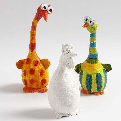 Photo of Vogels gemaakt van styropor ballen en papier-maché pulp | DIY handleiding