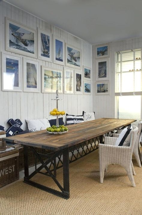 Dining Table ~ Nautical Dining Room Furniture Rustic Table ...