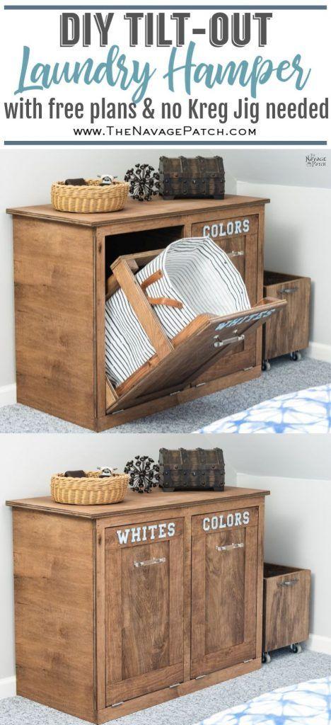 12 Laundry Hamper Cabinet Ideas, Laundry Hamper Cabinet Diy