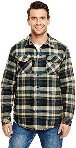 Buy Burnside Mens Quilted Flannel Jacket 8610 Online Flannel Jacket Man Quilt Men