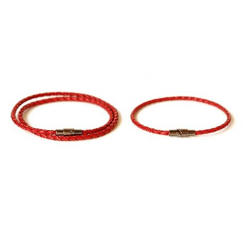 Red His and Hers Leather Bracelet/ Couple Bracelet/ Thin Leather Bracelet/ Couple Leather Bracelet S