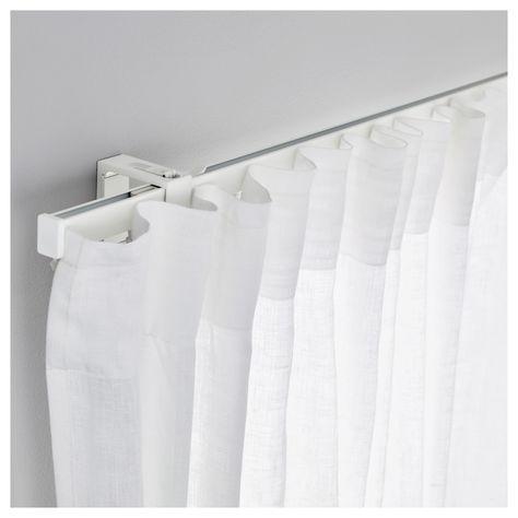 Ikea Vidga White Single Track Rail Cool Curtains Ikea Curtain