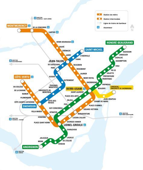 Subway Map Montreal.Calculando Seus Futuros Gastos Transporte Public Transportation