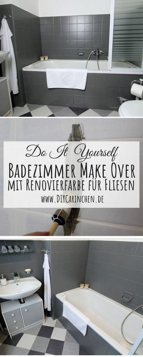 Diy Badezimmer Make Over Einfaches Recylcing Mit Der Schoner Wohnen Pep Up Renovierfarbe Fur Fliesen Badezimmer Streichen Fliesenfarbe Badezimmer Renovieren