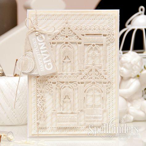 Spellbinders Happy Thanksgiving Card by Yana Smakula using S6-018 Painted Lady dies
