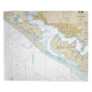 Fl Panama City St Andrew Bay Fl Nautical Chart Blanket In 2020 Nautical Chart Memory Foam Bath Mats Foam Bath Mats