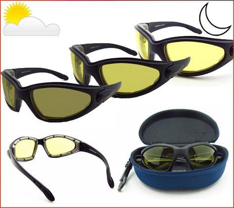 1d67bced7c Light Adjusting Motorcycle Sunglasses Foam Padded for Men   Women w  Safety  Polycarbonate Photochromic Lenses. Free Zipper Hard Case.