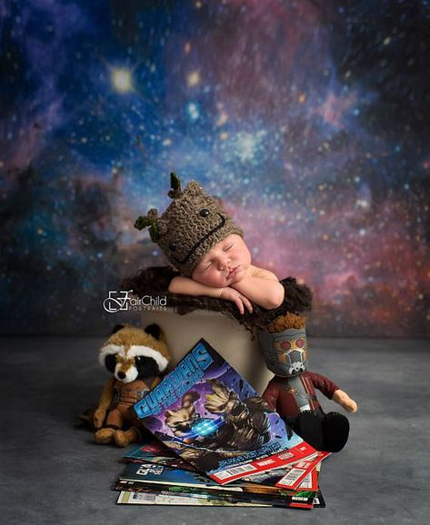 Hey, I found this really awesome Etsy listing at https://www.etsy.com/listing/484775187/groot-guardians-of-the-galaxy-hat-baby