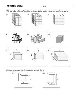 5th Grade Volume Quiz Material Didactico Matematicas Actividades De Matematicas Educacion Matematicas