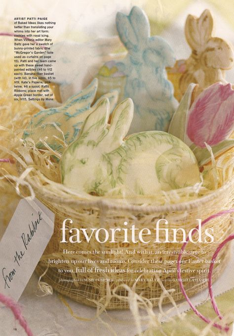 Toile Easter bunny cookies by Patti Paige of Baked Ideas, as featured in Victoria Magazine