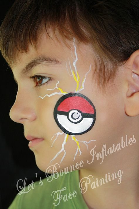 Vancouver Face Painting Lets Bounce Inflatables Pokeball Boys Face