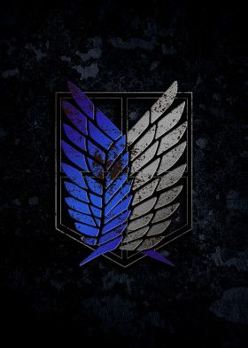 Attack On Titan Survey Corps Patch Textured Wings Angel Wings