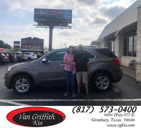 Congratulations Mike Mary Lou On Your Chevrolet Equinox From