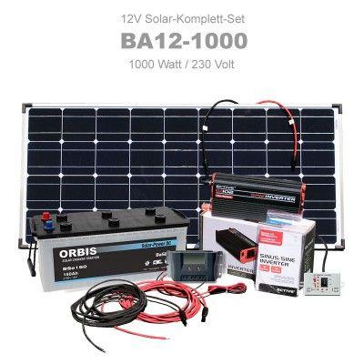 Insel Solaranlage 1000w Komplettset 12v 230v Ba12 1000 Solaranlage Solaranlage Wohnmobil Wohnmobil Ausbauen