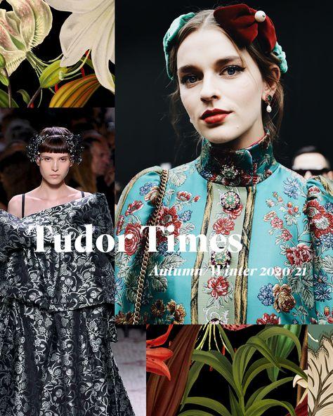 New Autumn/Winter 2020/21 Print Trend 'Tudor Times'