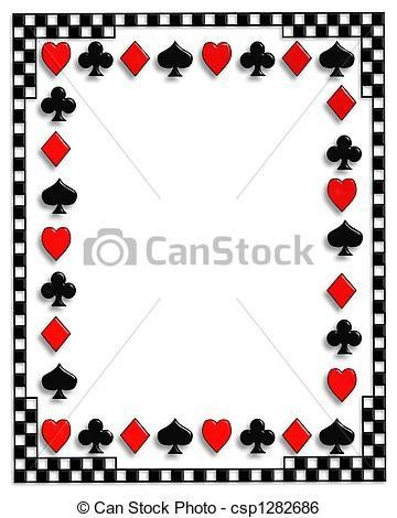 Playing Card Invitation Template Best Of Playing Cards Border Poker In 2020 Playing Card Invitation Printable Invitation Templates Graduation Invitations Template