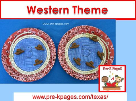 Western theme printables, ideas and activities for your preschool, pre-k, or kindergarten classroom.