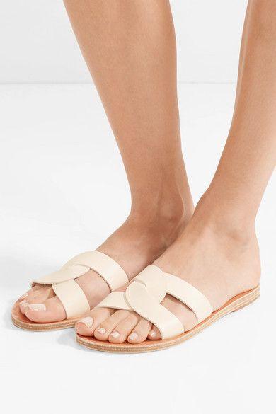 1b41b748b37c3 Ancient Greek Sandals | Desmos cutout leather slides | NET-A-PORTER.COM