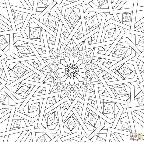 Image Result For Mosaic Patterns Printable Geometric Coloring Pages Mandala Coloring Pages Islamic Mosaic