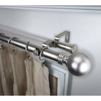 Darby Home Co Abbeville Globe Double Curtain Rod And Hardware Set