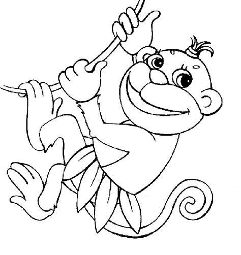 Maymun Boyama Sayfası Boyama Sayfasi