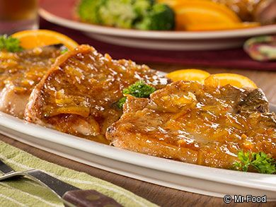 Marmalade Dijon Pork Chops - This 20-minute pork chop dinner recipe uses a sweet, tangy sauce to add flavor and zest. Since it's so quick to cook, this makes the perfect weeknight dinner too!