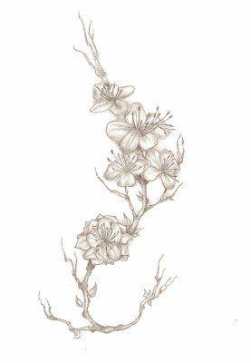 Resultat De Recherche D Images Pour Cerisier En Fleurs Tattoo Noir