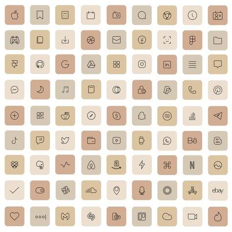 83 Cream iOS 14 App Icons Light Nude Beige Mood Mode iOS14 Widget Cover Widgetsmith Aesthetic Minimal Pack Iphone Apple Icons Set Shortcut