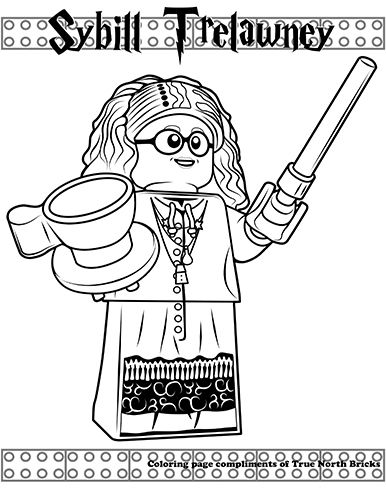 Coloring Page Sybill Trelawney True North Bricks Harry Potter Coloring Pages Lego Coloring Pages Lego Coloring