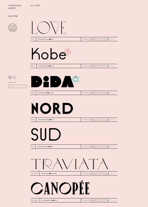 VJ-TYPE landing page design inspiration - Lapa Ninja Lettering, Typography Love, Typography Inspiration, Typography Letters, Graphic Design Typography, Graphic Design Inspiration, Calligraphy Logo, Web Design, Font Design