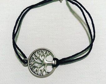 d86d91b503e2 Artículos similares a Plata pulsera del árbol de la vida - Rosa ...