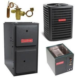Goodman 4 Ton 16 Seer 100k 96 Gas System Outdoor Air Conditioner Energy Efficient Furnace Furnace System