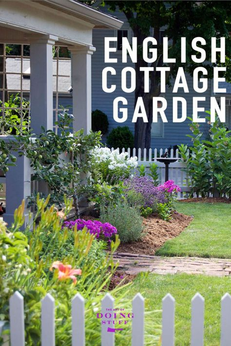 English Cottage gardens aren't grown in day. Or a month. They take a few years to develop. Here's a look at mine in year 1 plus a list of the plants within it. via @artofdoingstuff