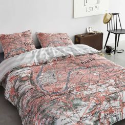 Covers And Co Bettwasche Paris Citymap Bettwasche Bedding